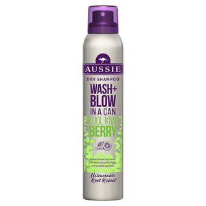 3 x Aussie Wash & Blow In A Can Kool Kiwi Berry jeweils 180 ml Trockenshampoo