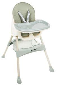 Hochstuhl für Babys Verstellbar Klappbar Tisch 5-Punkt Gurt 12060, Farbe:Grün