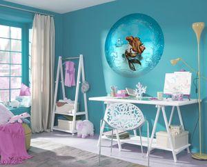 """Komar Vlies Fototapete rund und selbstklebend """"Ariel Dreaming"""" - Größe: 128 x 128 cm (Breite x Höhe) - 1 Stück"""