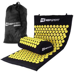 Hop-Sport Akupressur-Set aus Akupressurmatte & Akupressurkissen zur Entspannung und Selbstmassage mit Tasche - Gelb