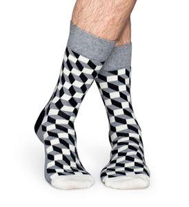 Happy Socks Filled Optic Socken Grau, Größenauswahl:41-46