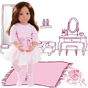 Götz Puppe Sophie braune Augen, braune Haare, Ballet Outfit