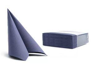 50 Servietten Softpoint  38x38cm blau