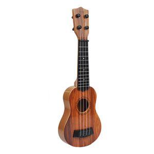 Nette Kindergitarre Spielzeug Ukulele Klassische Kleine Gitarre 4 Saiten Kinder Pädagogisches Lernen Früherziehung Farbe Dunkelbraun