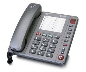 amplicomms PowerTel 90 Analoges Telefon Grau