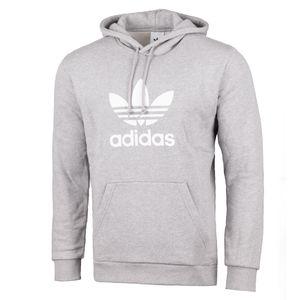 adidas Trefoil Hoodie Herren Sweatshirt Grau, Größe:L