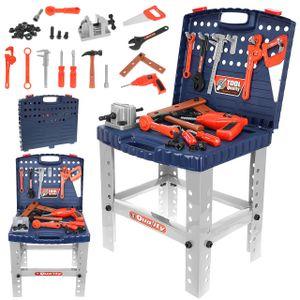 Werkbank Spielset mit Klapp-Design Kunstoff Werkbank für Kinder 67 Stück Spielzeug 9422
