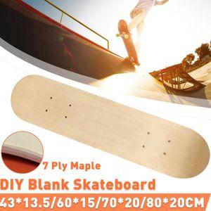 7 Schichten Skateboard Deck Holz Ahorn Double Concave Blank Skate Board 80*20cm