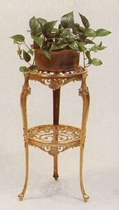 Casa Padrino Luxus Barock Beistelltisch Gold Ø 33 x H. 74 cm - Runder Messing Tisch - Blumentisch im Barockstil - Barock Möbel