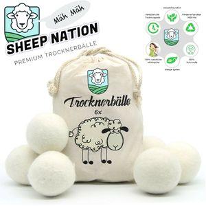 SHEEP NATION™ Trocknerbälle 6er Pack Weichspüler Alternative Premium Schafwolle