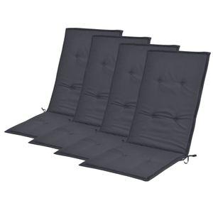 vidaXL Gartenstuhlauflagen 4 Stk. Anthrazit 120x50x4 cm