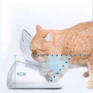 Futternapf Hunde Katzennapf Schüssel mit Ständer Fressnapf Haustier Trink Schräg