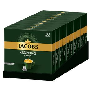 JACOBS Kapseln Krönung Crema 200 Nespresso®* kompatible Kaffeekapseln 10x20