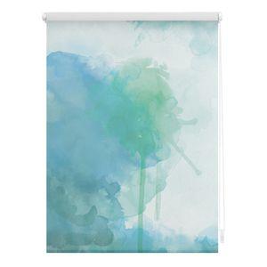 Rollo Klemmfix, ohne Bohren, blickdicht, Aquarell - Blau 60 x 150 cm (B x L)