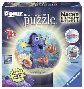 Ravensburger 3D-Puzzle 12189 - Findet Dorie - 3D Puzzle-Ball, 72-teilig Nachtlicht