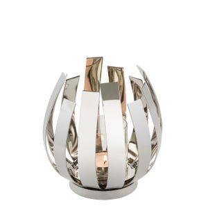 Fink Living Windlicht Orfea - Nickel Durchmesser 18,5 cm I Höhe 20 cm