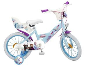 16 Zoll Kinder Mädchen Fahrrad Kinderfahrrad Mädchenfahrrad Mädchenrad Rad Disney Elsa Frozen die Eiskönigin II Toimsa