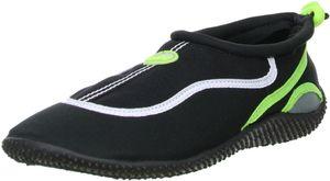 ConWay Damen Herren Wassersport Schwimm Badeschuhe schwarz/grün, Größe:38, Farbe:Grün