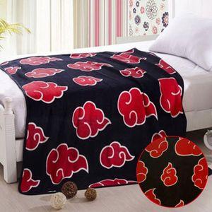 Naruto Anime Rot Kuscheldecke Sofadecke Wohndecke Decke blanket 150*120CM Flanelldecke