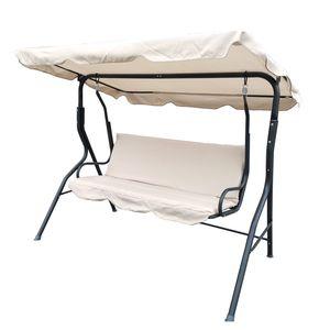 Comfort Hollywoodschaukel 3-Sitzer Anthrazit/Beige
