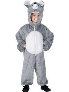 Karneval Kinder Kostüm Maus Overall als Tier verkleiden Gr.5-8 Jahre