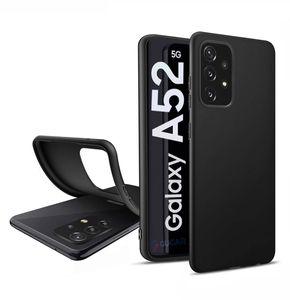 Für Samsung Galaxy A52 5G Silikon Schwarz Hülle TPU Handy Schutz Case Premium