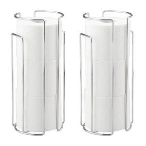 Toilettenpapier-Ersatzrollenhalter Chrom, 2er Set