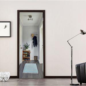 3D Türaufkleber entfernbarer Wandaufkleber Tapete Türbild 90 x 200cm Muster C 90 x 200 cm