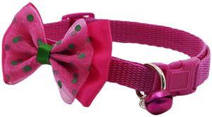 Fashion Halskette Pet Halsband verstellbar mit Glocke für kleine Hunde/Welpen Kätzchen,rosarot
