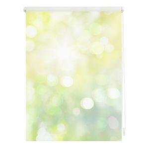 Lichtblick Rollo Klemmfix, ohne Bohren, blickdicht, Lichtspiel - Grün Gelb 90 cm, 90 x 150 cm (B x L) KRT.090.150.315