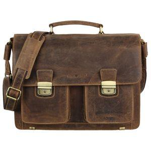 Greenburry Vintage Aktentasche Office Bag Leder braun 1710-25