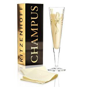 Ritzenhoff CHAMPUS Champagnerglas mit Stoffserviette by Malika Novi 2019