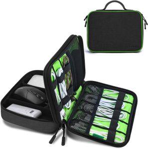 Kabeltasche, Doppelte Schichte Elektronik Organizer Tasche und Kabel Organizer