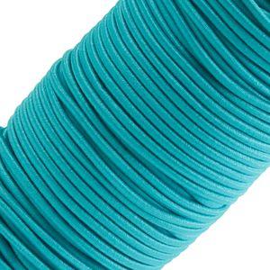 50m Spule Gummikordel Gummischnur 3mm Bekleidungsgummi Hutgummi, 27 Farben, Farbe:himmelblau