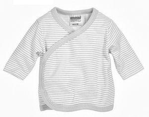 Schnizler hemd RingelLangarm Junior beige/weiß Größe 50