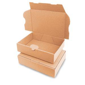 verpacking 25 Maxibriefkartons Versandkartons Faltschachtel Faltkarton Maxibrief 180 x 130 x 45 mm   Braun   MB-2