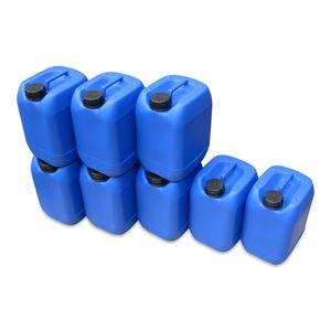8 Stück 10 Liter 10 L Kanister, Wasserkanister Farbe blau lebensmittelecht DIN51 (8x10knb51)