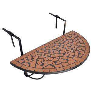 beraes Balkonhängetisch Terracotta Mosaik