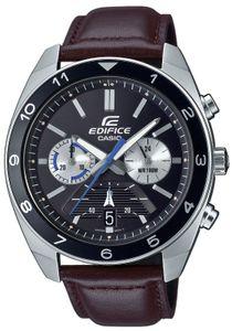 Casio Edifice Armbanduhr EFV-590L-1AVUEF Lederband braun