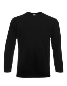 Valueweight Long Sleeve Herren T-Shirt - Farbe: Black - Größe: XL