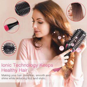 4 IN 1 Multifunktionaler Negativer Haarbürsten, Warmluftbürste,geeignet für alle Frisuren, nass und trocken