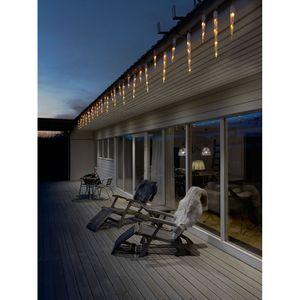 LED Eiszapfen Lichtervorhang mit 32 Zapfen 96 bernsteinfarbene Dioden IP44