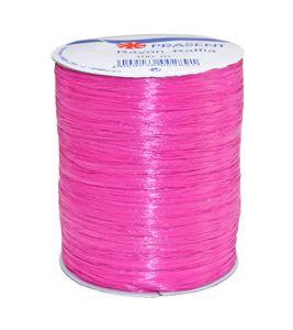 Rayon Raffia Bast auf Rolle, pink (100 m)