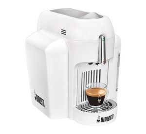 Bialetti Mini Express CF62, Freistehend, Weiß, Espresso machine, Kapseln, Espresso, 0,7l