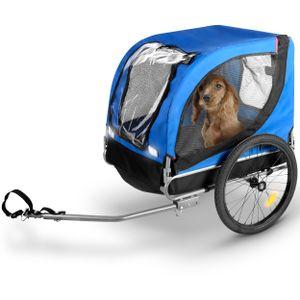 Bicycle Gear Fahrradanhänger für Haustiere, Hunde-Fahrradanhänger, Klappbar, Max 40 kg, 75x52x65cm, Blau/ Schwarz