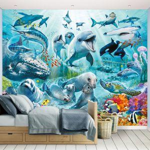 Fototapete Unterwasserwelt Meerestiere inkl. Tapetenkleister Kindertapete Wandtapete