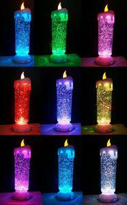 LED Kerze groß 25cm Farbwechsel Glitzer Weihnachtsdeko Kerzenlampe Weihnachten weiß Glitzerkerze
