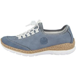 Rieker Damen Slipper Blau, Schuhgröße:EUR 37