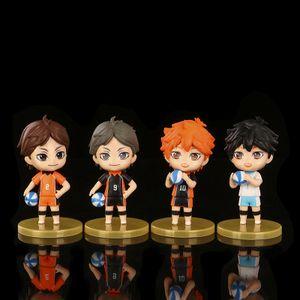 4 Stück#Nendoroid 605 Haikyuu 2 Haikyu Kenma Kozume PVC Actionfigur Figur Gelbe Basis