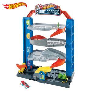 Hot Wheels Stunt-Garage Spielset, Parkhaus inkl. 1 Spielzeugauto, Parkgarage